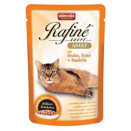 Корм влажный для кошек ANIMONDA Rafinе Adult 100г с курицей уткой и пастой пауч