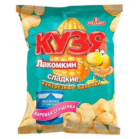 Палочки Кузя Лакомкин кукурузные с сахарной пудрой вареной сгущенкой 65г