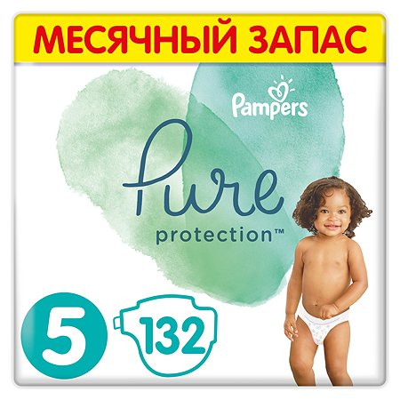 Подгузники Pampers Pure Protection Junior 11+кг 132шт