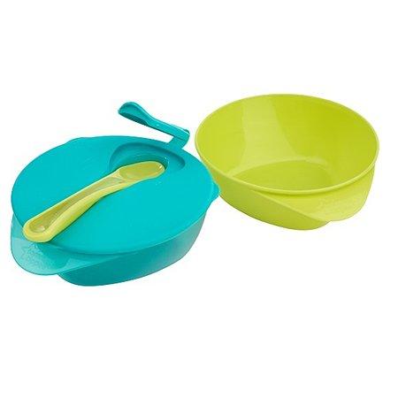 Глубокая тарелка Tommee tippee с крышкой и ложкой в ассортименте