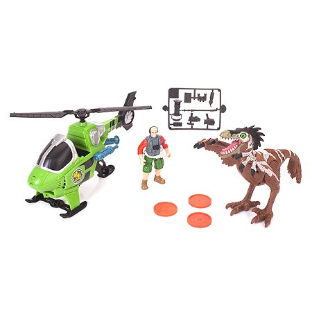 Динозавр Chap Mei Ютараптор охотник на вертолете