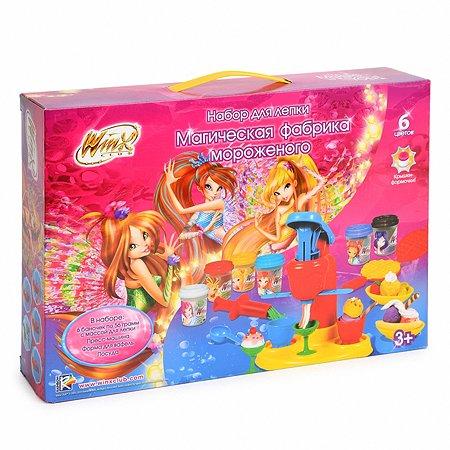 Набор для лепки Winx Магическая фабрика мороженого аксессуары 6 цв