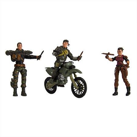Набор Global Bros Герои-4 (3 солдатика+аксессуары)