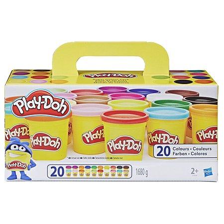 Пластилин Play-Doh 20цветов A7924EUC