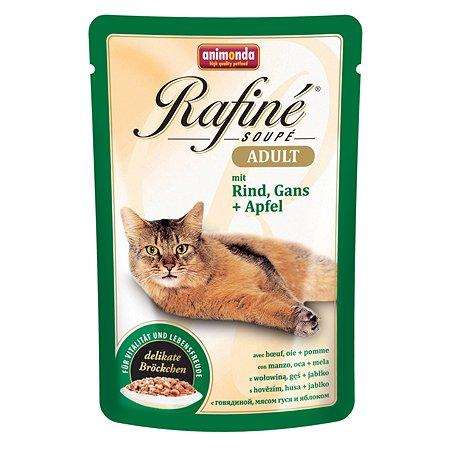 Корм влажный для кошек ANIMONDA Rafinе Adult 100г с говядиной мясом гуся и яблоком пауч