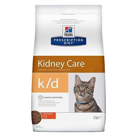 Корм для кошек HILLS Prescription Diet k/d Kidney Care для здоровья почек с курицей сухой 5кг