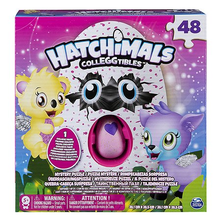 Пазл Hatchimals с фигуркой 48деталей в непрозрачной упаковке (Сюрприз) в ассортименте 6039460