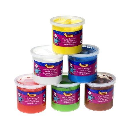 Краски Jovi для рисования руками 125мл*6цветов