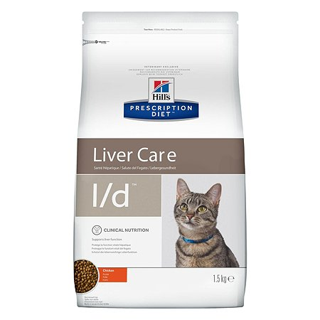 Корм для кошек HILLS Prescription Diet l/d Liver Care для здоровья печени с курицей сухой 1.5кг