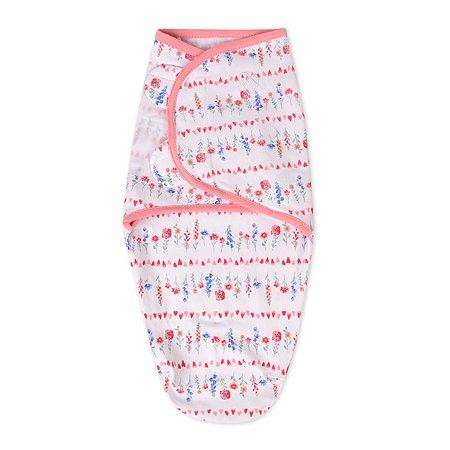 Конверт для пеленания Summer Infant SwaddleMe Цветочки на липучке SM Розовый