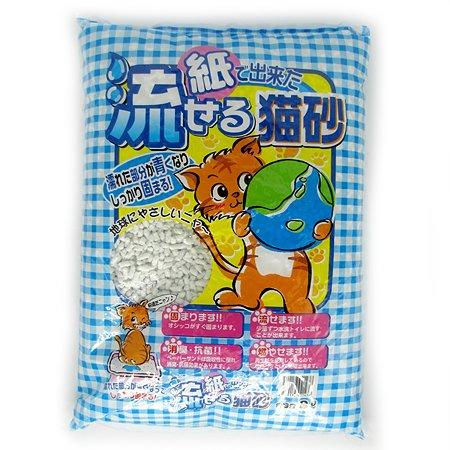 Наполнитель для кошек Hinoki комкующийся бумажный смываемый 8л