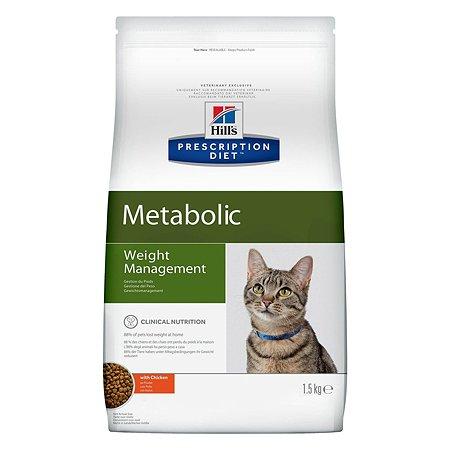 Корм для кошек HILLS Prescription Diet Metabolic Weight Management для оптимального веса с курицей сухой 4кг