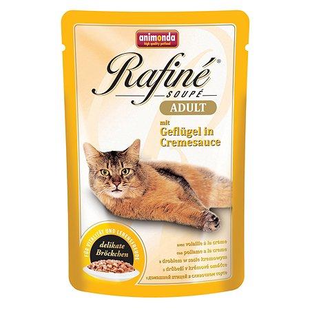 Корм влажный для кошек ANIMONDA Rafinе Adult 100г с птицей в сливочном соусе пауч