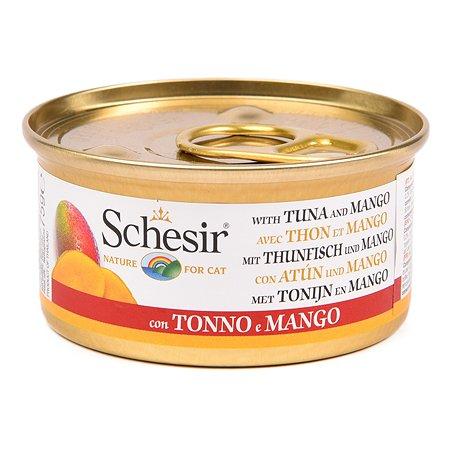 Корм влажный для кошек Schesir 75г с тунцом и манго