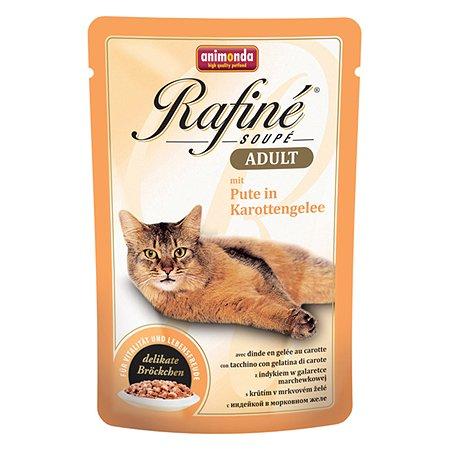 Корм влажный для кошек ANIMONDA Rafinе Adult 100г с индейкой в морковном желе пауч