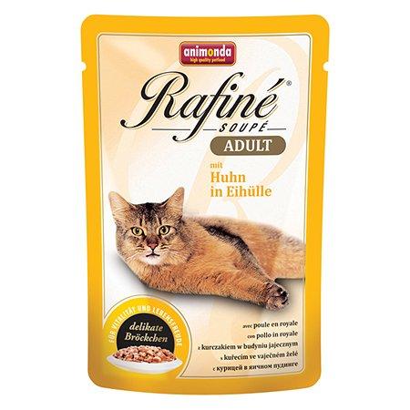 Корм влажный для кошек ANIMONDA Rafinе Adult 100г с курицей в яичном пудинге пауч
