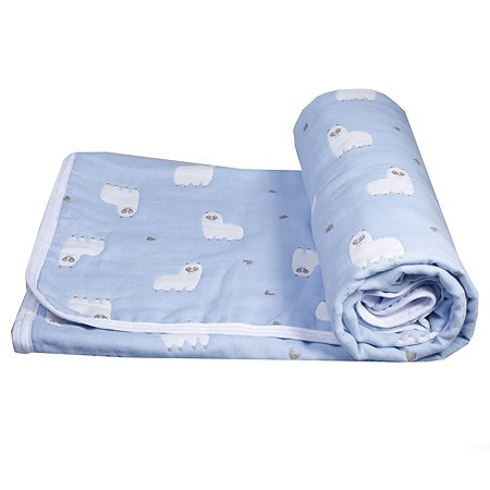 Одеяло BabyEdel Малыш Лама Голубое 23133