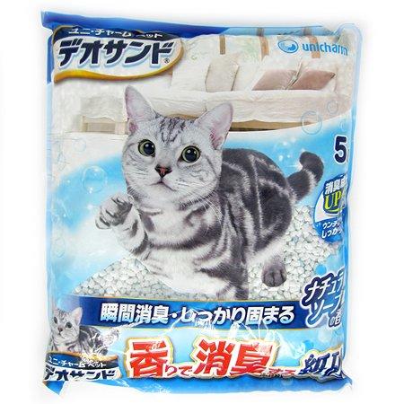 Наполнитель для кошек Unicharm бумажный дезодорирующий аромат мыла 5л