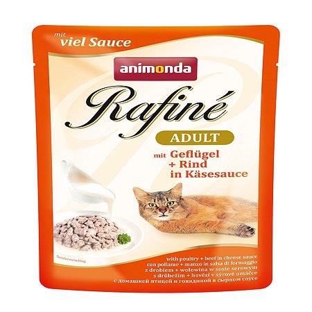 Корм влажный для кошек ANIMONDA Rafinе Adult 100г с домашней птицей в сырном соусе пауч