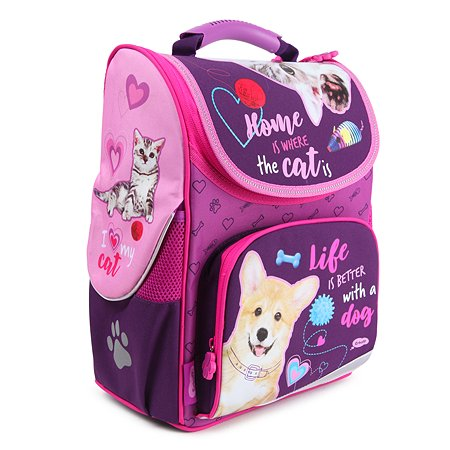 Ранец школьный Erhaft Кошки и собаки CAD001