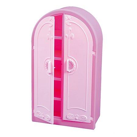 Шкаф для куклы Огонек Розовый С-1429