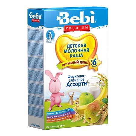 Каша Bebi Premium молочная фрукты-злаки 250г с 6месяцев