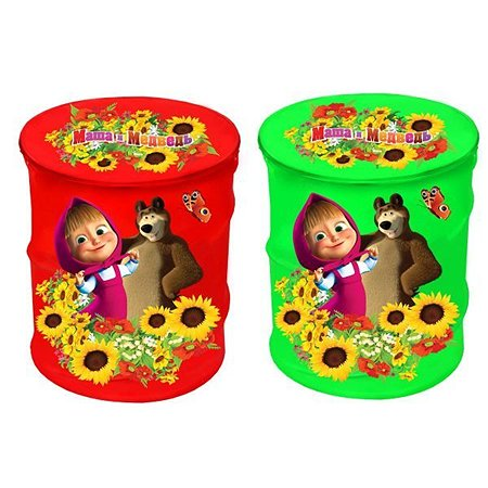 Корзина для игрушек Играем вместе Маша и медведь в ассортименте