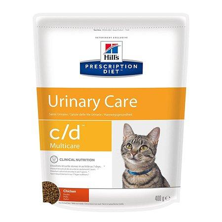 Корм для кошек HILLS PrescriptionDiet c/d MulticareUrinaryCare для МКБ с курицей сух400г