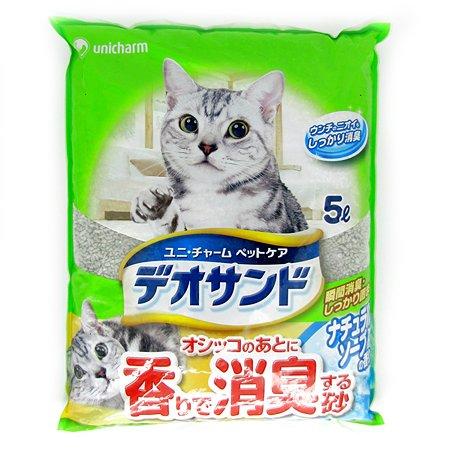 Наполнитель для кошек Unicharm бентонитовый дезодорирующий с ароматом мыла 5л
