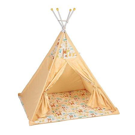 Палатка-вигвам Polini kids Жираф Желтая