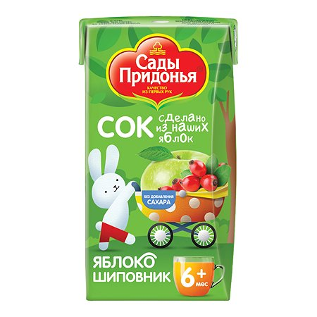 Сок Сады Придонья яблоко-шиповник 0,125л с 6 месяцев