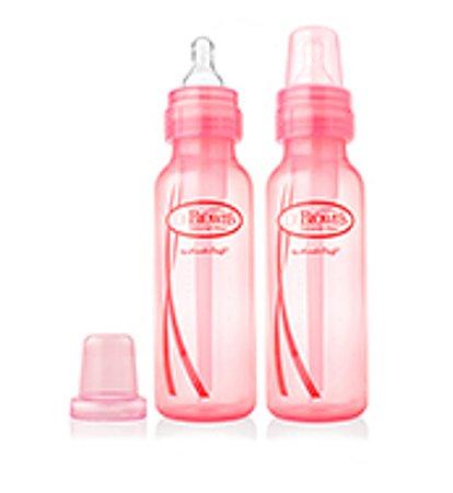 Бутылочка Dr Brown's стандарт 250 мл Розовая 2 шт