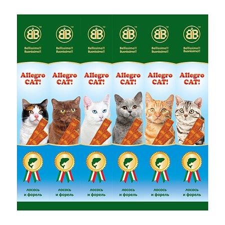 Лакомство для кошек BB Allegro Cat колбаски с лососем и форелью 6шт