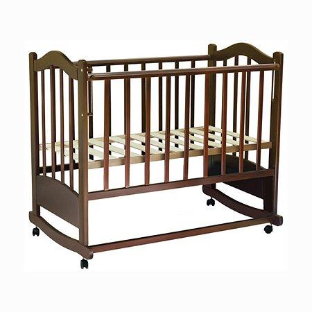 Кровать детская Ведрусс Лана-6 колесо-качалка ПВХ цвет Вишня