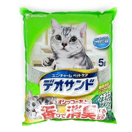 Наполнитель для кошек Unicharm бентонитовый дезодорирующий с ароматом трав 5л