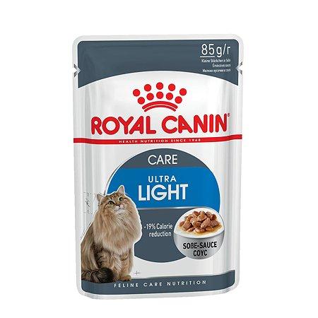 Корм влажный для кошек ROYAL CANIN Ultra light 85г склонных к полноте пауч