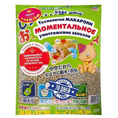 Наполнитель для кошачьих туалетов EarthPet на основе японского чая 7л