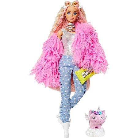 Кукла Barbie Экстра в розовой куртке GRN28