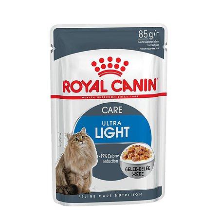 Корм влажный для кошек ROYAL CANIN Ultra light 85г желе склонных к полноте пауч
