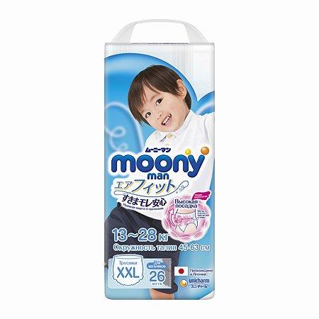 Подгузники-трусики Moony Boy XXL 13-28кг 26шт