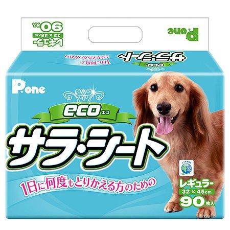 Пеленки для собак P.One Эко 3слойные с антибактериальным наполнением средние 90шт