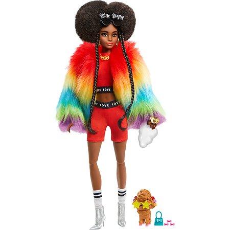 Кукла Barbie Экстра в радужном пальто GVR04