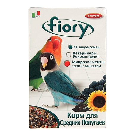 Корм для попугаев Fiory Parrocchetti Africa средних 800г