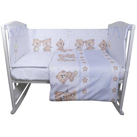 Комплект постельного белья Эдельвейс Прогулка 6предметов Голубой