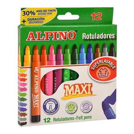 Фломастеры ALPINO Maxi 12цветов AR000006