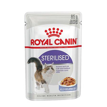 Корм влажный для кошек ROYAL CANIN Sterilised 85г желе стерилизованных