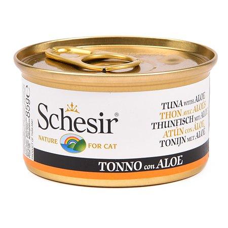 Корм влажный для кошек Schesir 85г тунец с алоэ