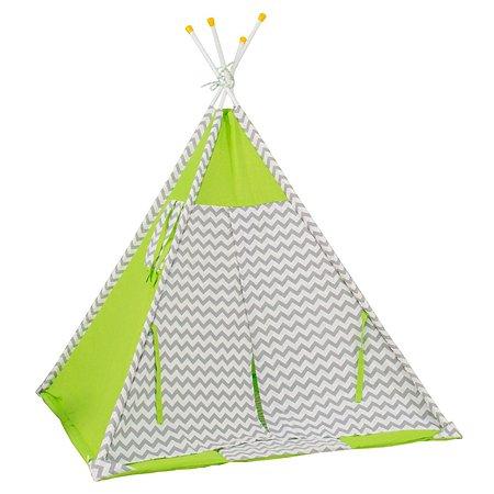 Палатка-вигвам Polini kids Зигзаг Зеленая