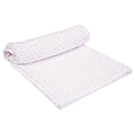 Пеленка AMARO BABY Soft Hugs Звезды Розовый