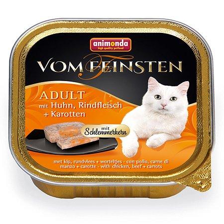 Корм влажный для кошек ANIMONDA Vom Feinsten Adult М 100г с курицей говядиной и морковью консервированный